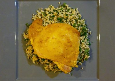 Moroccan Spiced Chicken with Millet